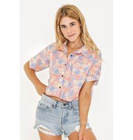 RUSTY RUSTY Desert Flower Short Sleeve Shirt Peach