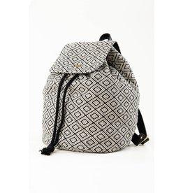 RUSTY RUSTY Imane Backpack Black White