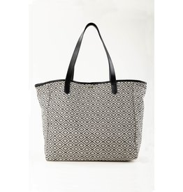 RUSTY RUSTY Imane Beach Bag Black White