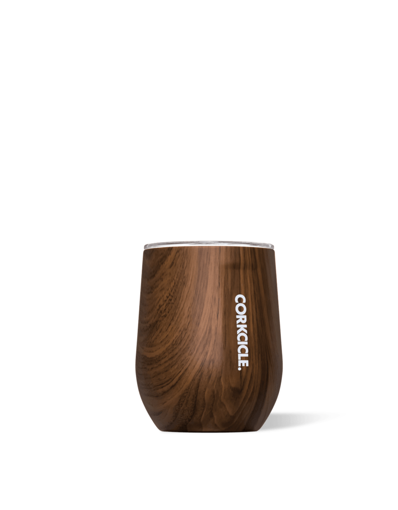 CORKCICLE CORKCICLE Stemless - 12oz Walnut Wood