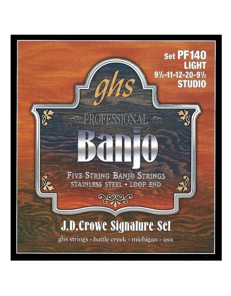 GHS GHS J.D. Crowe Signature Series (Studio), 5-String Stainless Steel Banjo Strings (.009 1/2-.02)