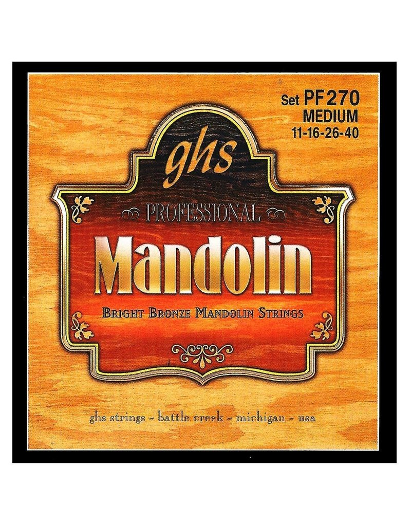 GHS GHS Bright Bronze™ Mandolin Strings, Medium (.011-.040)