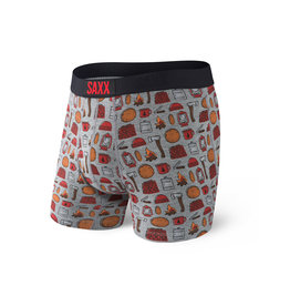 SAXX SAXX Ultra Boxer Brief Fly Grey Htr Lumberjack