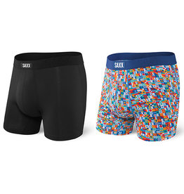 SAXX SAXX Undercover Boxer Brief Fly 2Pk Black/Yacht Rock 101