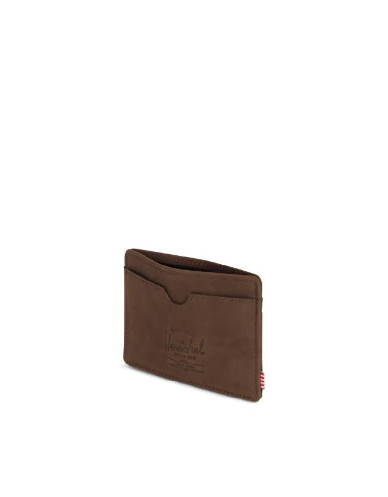 HERSCHEL HERSCHEL Charlie Leather RFID Nubuck Brown