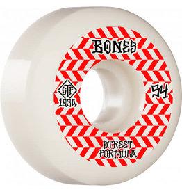 BONES BONES STF WHEELS - PATTERNS V5 SIDECUTS 103A WHITE