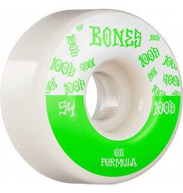 BONES BONES 100'S - BONES LOGO V4 WIDES WHITE