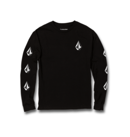 VOLCOM VOLCOM Big Boys Deadly Stones Long Sleeve Tee Black
