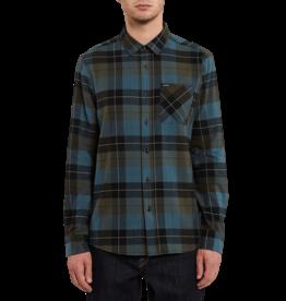 VOLCOM VOLCOM Caden Plaid Long Sleeve Flannel Army Green Combo