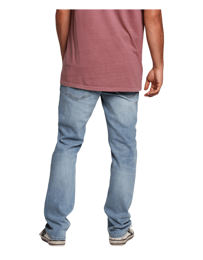 Low Rise Zipper Fly Jeans Volcom Volver Grey Modern Straight Leg Fit