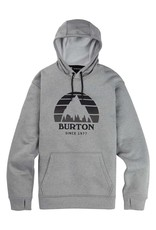BURTON BURTON Oak Pullover Fleece Gray Heather
