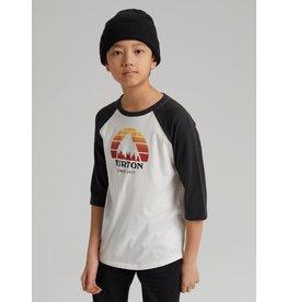 BURTON BURTON Kids' Underhill Raglan Sleeve T-Shirt Stout White/Phantom
