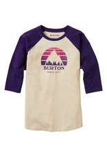 BURTON BURTON Kids' Underhill Raglan Sleeve T-Shirt Crème Brûlée/Parachute Purple