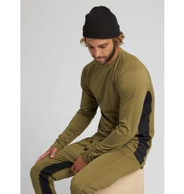 BURTON BURTON Midweight X Base Layer Crew Martini Olive/True Black
