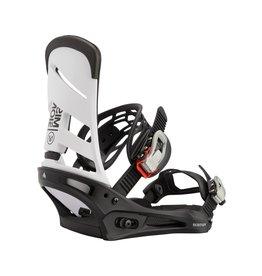 BURTON BURTON Mission Re:Flex Snowboard Binding White/Black