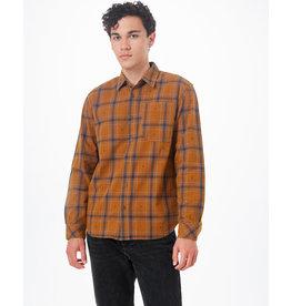 TENTREE TENTREE Benson Flannel Shirt Rubber Brown Tree Plaid