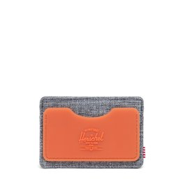 HERSCHEL HERSCHEL Charlie Rubber RFID Raven Crosshatch/Vermillion Orange