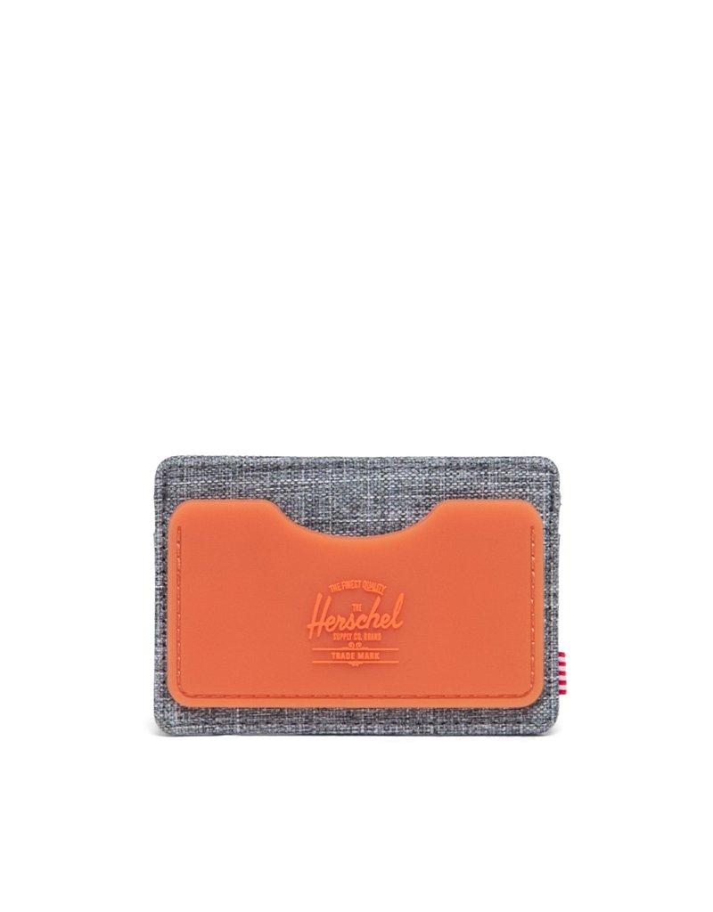 HERSCHEL HERSCHEL Charlie Rubber RFID Raven Crosshatch/Vermillion Orange