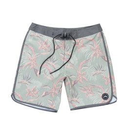 RUSTY RUSTY Backhand Scallop Boardshort Grey