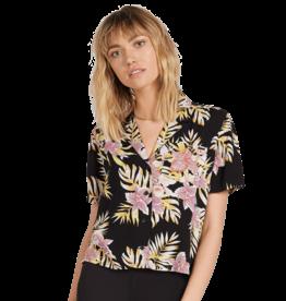 VOLCOM VOLCOM Gen Wow Short Sleeve Shirt Black Floral Print