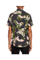VOLCOM VOLCOM Cut Out Floral Short Sleeve Dark Charcoal