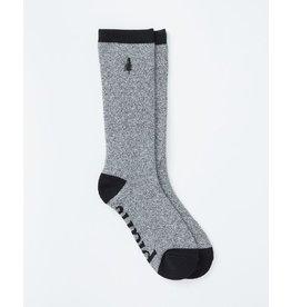 TENTREE TENTREE Selkirk Emboridered Sock Meteorite Black Marled