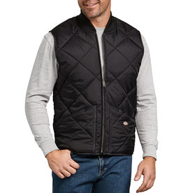 DICKIES DICKIES Diamond Quilted Nylon Vest Black