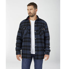DICKIES DICKIES Sherpa Lined Flannel Hydrosheild Jacket Ink Navy Plaid