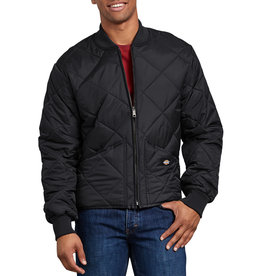 DICKIES DICKIES Diamond Quilted Nylon Jacket Black