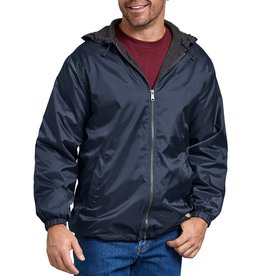 DICKIES DICKIES Fleece Lined Hooded Nylon Jacket Dark Navy