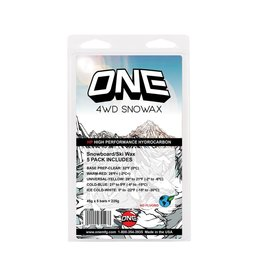 ONEBALL ONE BALL  4WD 5 pack Wax, warm/cool/cold/ice/base prep 225g