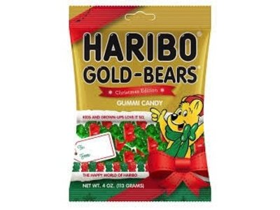 Haribo Haribo Christmas Gummi Gold Bears 4 oz