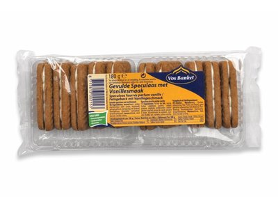 Vos Vos Banket Speculaas with vanilla filling cookie 6.2  Oz