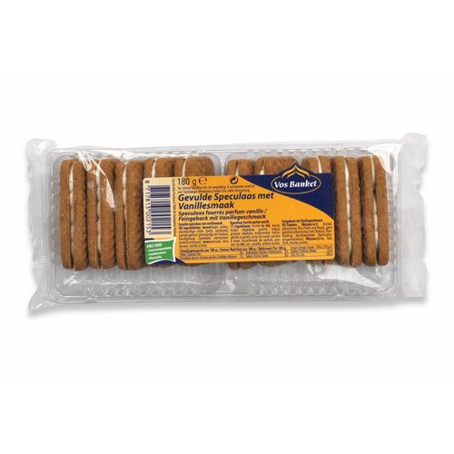Vos Banket Speculaas with vanilla filling cookie 6.2  Oz