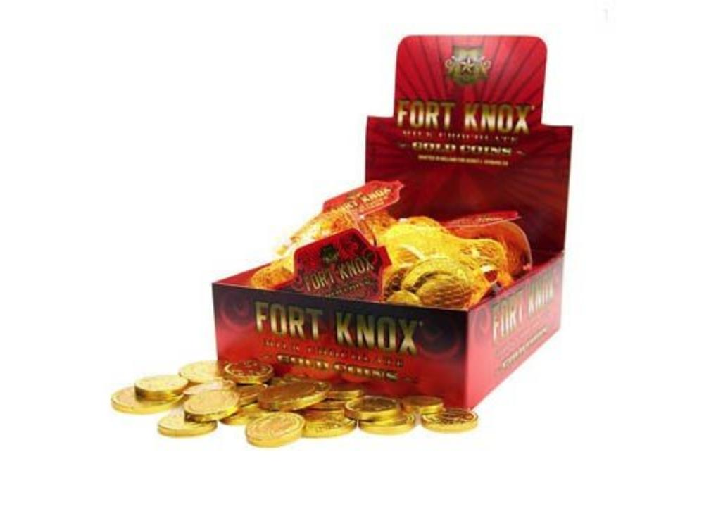 Fort Knox Box of 12 Gold Coins 2oz Mesh Bag