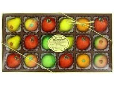 Bergen Deluxe Asst Fruit Marzipan Shapes gift box 8 oz