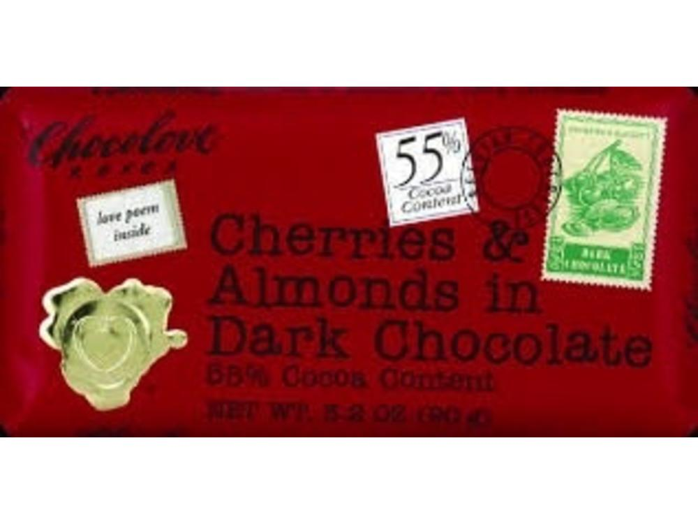 Chocolove Chocolove Cherry Almond Dark 3 oz Bar