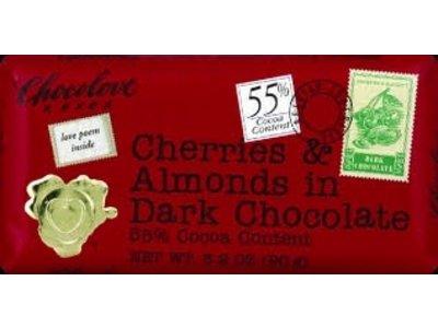 Chocolove Chocolove Cherry Almond Dark 3 oz Bar 12/cs
