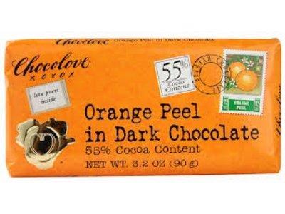 Chocolove Chocolove Orange Peel Dark 55% 3.2 oz 12/cs