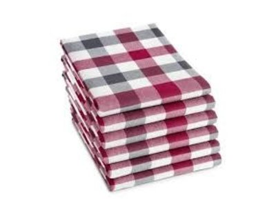 DDDDD DDDDD Antracit Carre Checkered Towel red gray Closeout