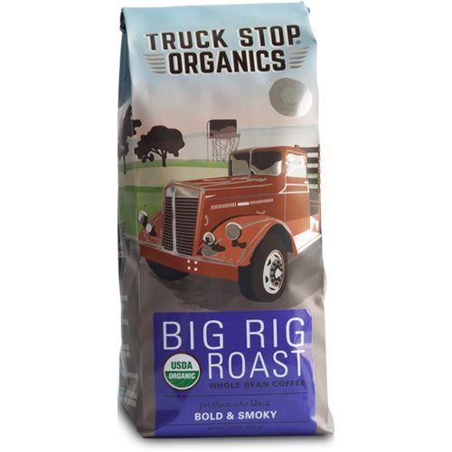 Truck Stop Organics Truck Stop Org Big Rig  Whole bean Bold & Smoky coffee 12 oz