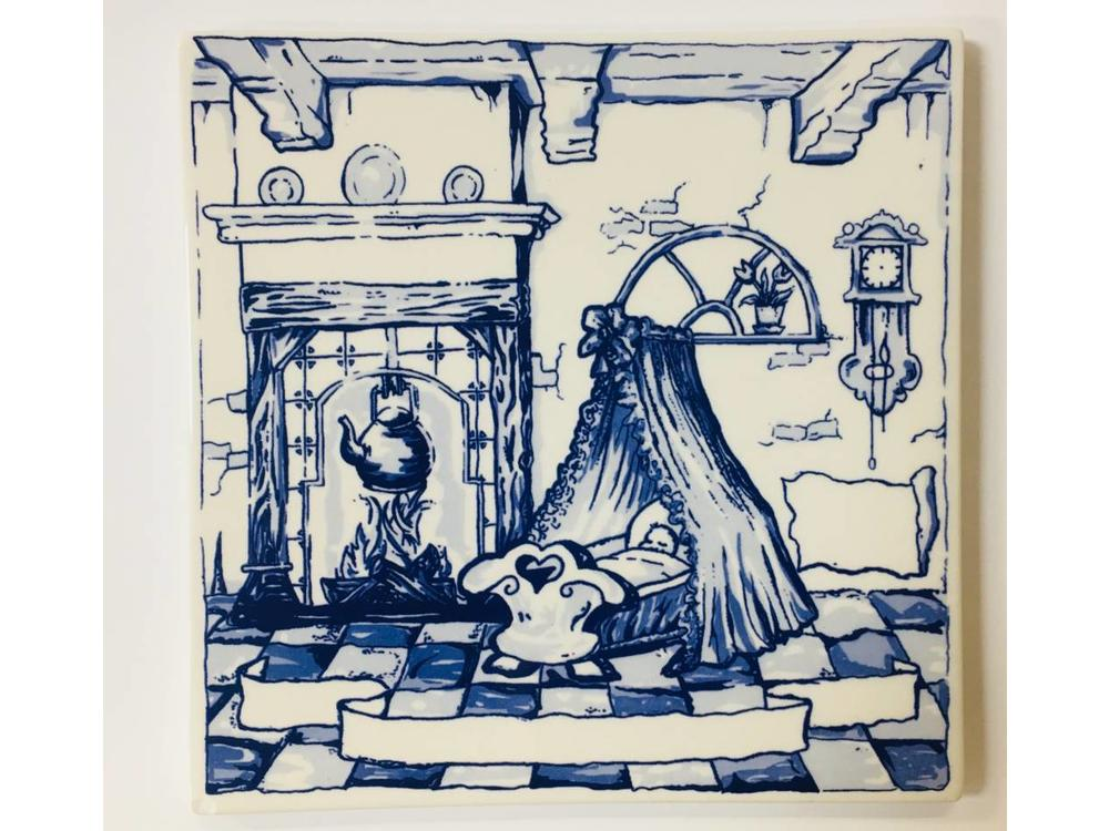 Baby Tile Delft Blue  6X6 inch