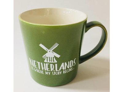 Netherlands Is Where My Story Begins Mug 16 oz Olive Green
