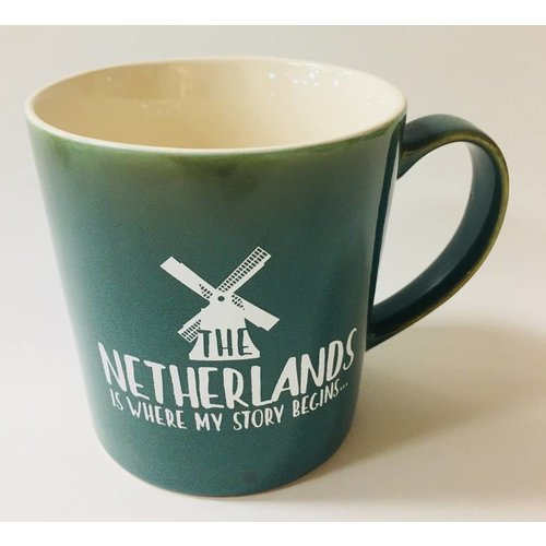 Netherlands Is Where My Story Begins Mug 16 oz Teal