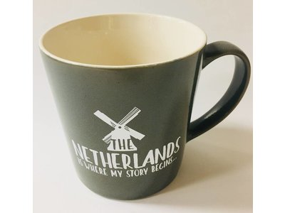Netherlands Is Where My Story Begins Mug 16 oz Gray