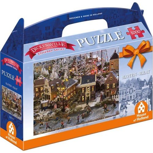 Games Puzzle Dickensville Sloten 1000 pieces