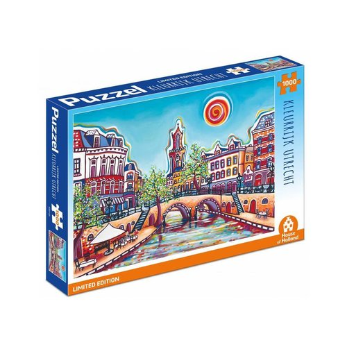 Games Puzzle 1001 Colors Colorful Utrecht 1000 pieces
