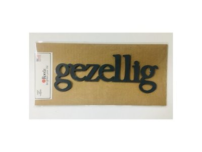 Roeda Studio Magnet Gezellig LARGE dark gray 4.3x12 inches