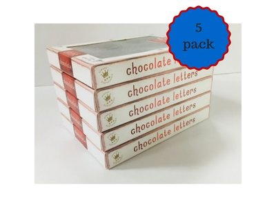 Dutch Letters DL Dark Chocolate Letters 5 pack assorted $10.00