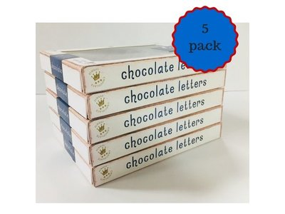 Dutch Letters DL 5 pack Assorted Milk Chocolate Letters Special $10.00